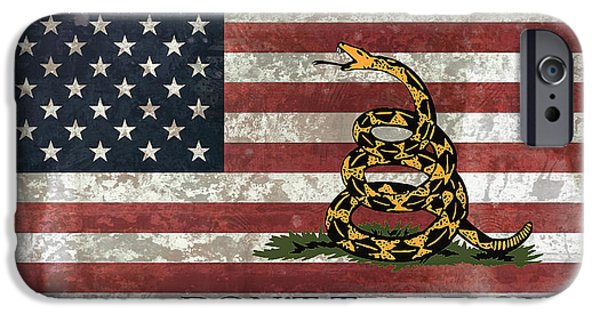 American Revolution Digital Art iPhone Cases - Do Not Tread On Us Flag iPhone Case by Daniel Hagerman