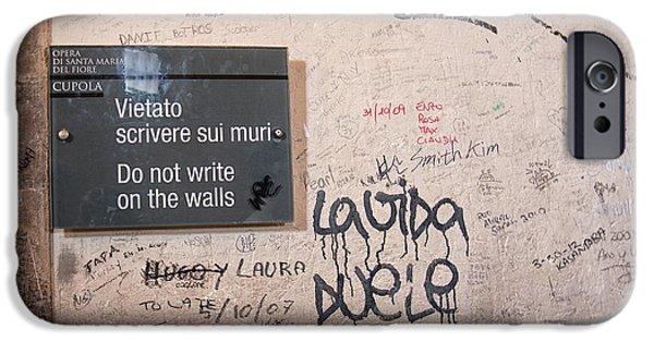 The Duomo iPhone Cases - Do Not Write On The Walls iPhone Case by Melany Sarafis
