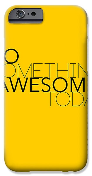 Bicycles iPhone Cases - Do Something Awesome Today 1 iPhone Case by Naxart Studio