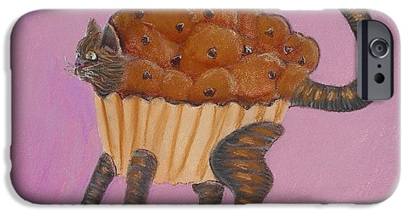 Chip Pastels iPhone Cases - Do You Know The Muffin Cat iPhone Case by R Neville Johnston