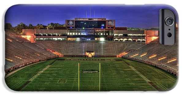 Atlantic iPhone Cases - Doak Campbell Stadium iPhone Case by Alex Owen