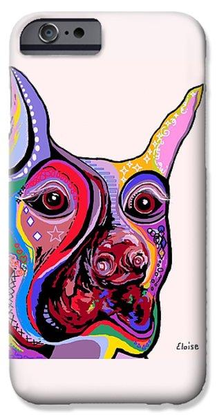 Doberman iPhone Case by Eloise Schneider