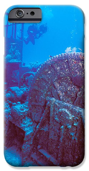 Undersea Photography iPhone Cases - Doc Polson Wreck In The Sea, Grand iPhone Case by Panoramic Images