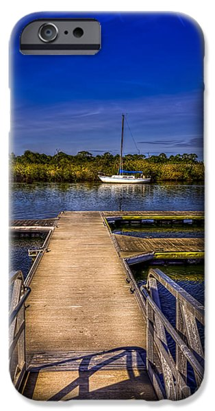 Sail Boat iPhone Cases - Dock and Boat iPhone Case by Marvin Spates