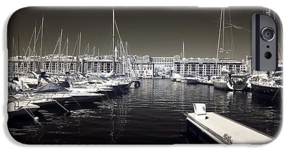 Sailboats Docked iPhone Cases - Dock in the Port iPhone Case by John Rizzuto
