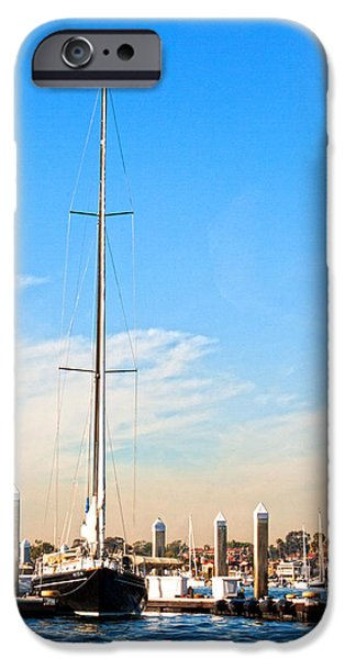 Sailboats Docked iPhone Cases - Docked iPhone Case by Chris Brannen