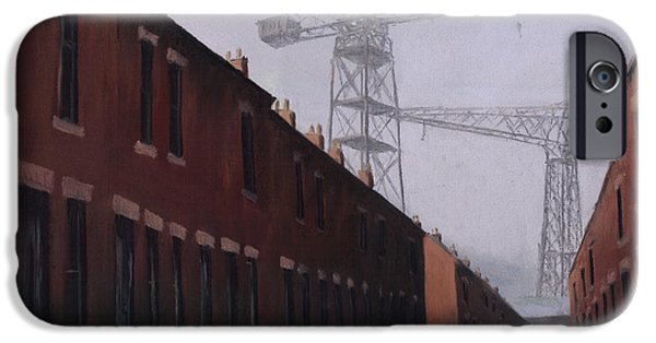 Industrial Pastels iPhone Cases - Dockers Monument iPhone Case by Michelle Milburn