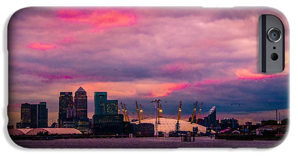 River View iPhone Cases - Docklands and O2 Arena iPhone Case by Dawn OConnor