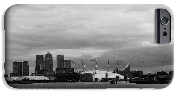 River View iPhone Cases - Docklands Skyline iPhone Case by Dawn OConnor