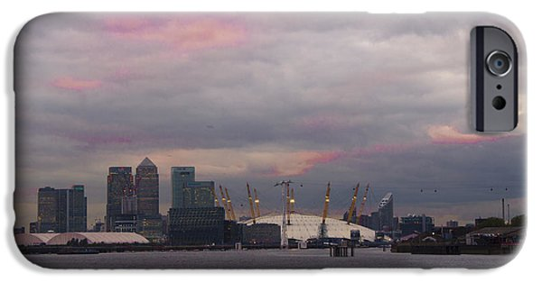 River View iPhone Cases - Docklands Sunset iPhone Case by Dawn OConnor