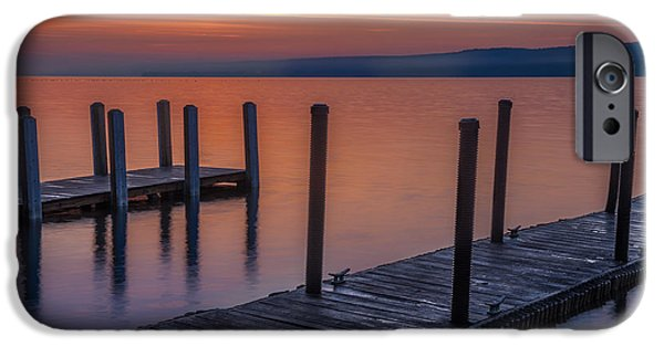 United States iPhone Cases - Docks by the Lake iPhone Case by Ken Cave