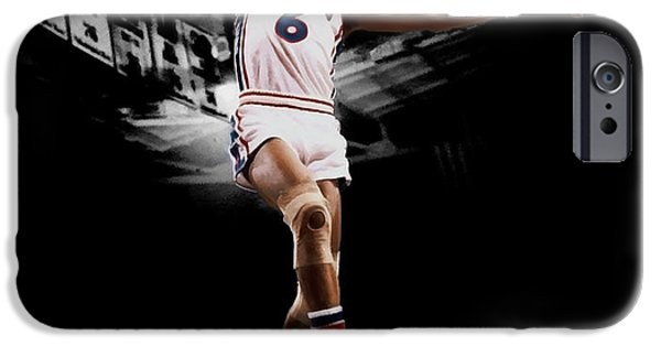 Dr. J iPhone Cases - Doctor J iPhone Case by Brian Reaves