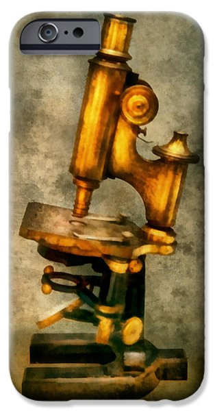 Doctor - Microscope - The start of modern science iPhone Case by Mike Savad