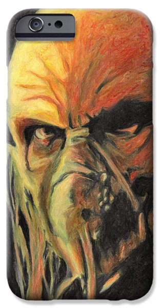 Haunted House Paintings iPhone Cases - Doctor Satan iPhone Case by Taylan Soyturk