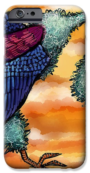 Doctor Vultura iPhone Case by Kelly Jade King