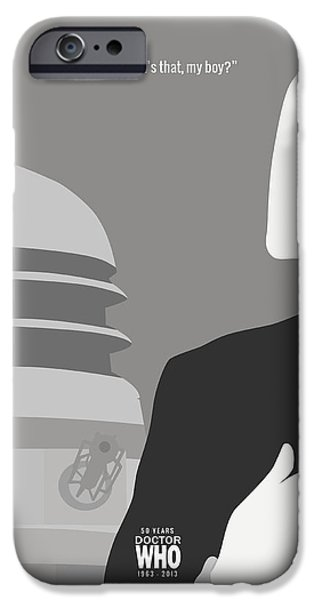 Doctor iPhone Cases - Doctor Who 50th Anniversary Poster Set First Doctor iPhone Case by Jeff Bell