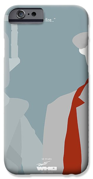 Doctor iPhone Cases - Doctor Who 50th Anniversary Poster Set Seventh Doctor iPhone Case by Jeff Bell