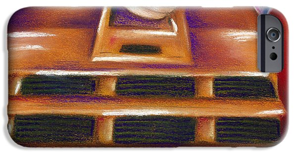 Science Fiction Pastels iPhone Cases - Dalek iPhone Case by Connie Mobley Johns