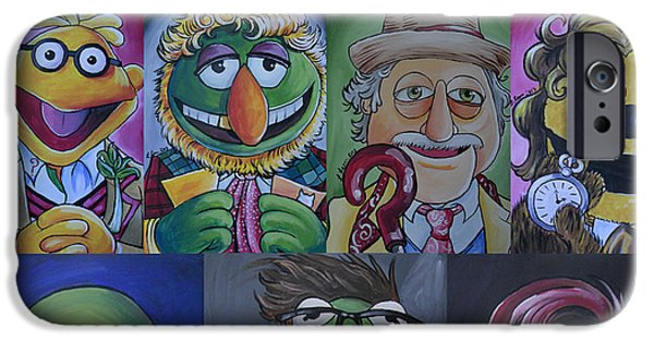 Dr Who iPhone Cases - Doctor Who Muppet Mash-up iPhone Case by Lisa Leeman