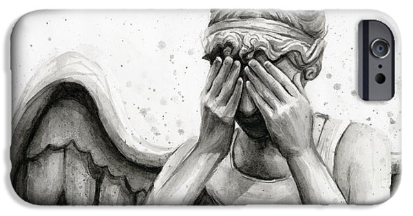 Dr Who iPhone Cases - Doctor Who Weeping Angel Dont Blink iPhone Case by Olga Shvartsur