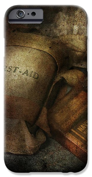 Doctor - WWII Emergency Med Kit iPhone Case by Mike Savad