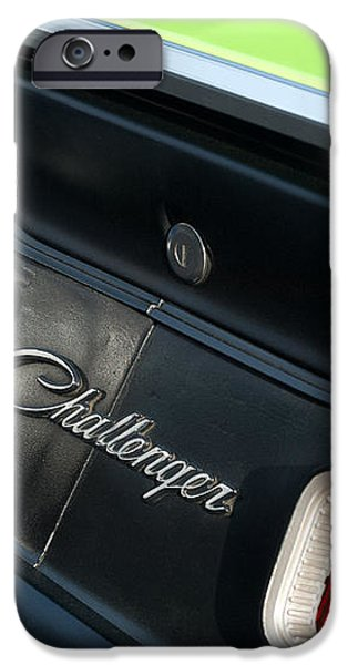 Dodge Challenger 440 Magnum RT Taillight Emblem iPhone Case by Jill Reger