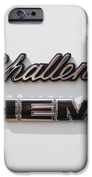 Dodge Challenger Hemi Emblem iPhone Case by Jill Reger
