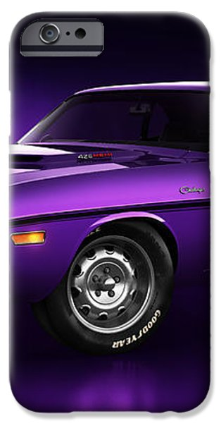 Dodge Challenger Hemi - Shadow iPhone Case by Marc Orphanos
