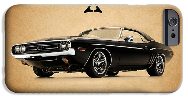 Challenger iPhone Cases - Dodge Challenger iPhone Case by Mark Rogan