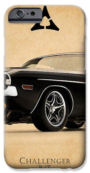 Dodge Challenger iPhone Case by Mark Rogan