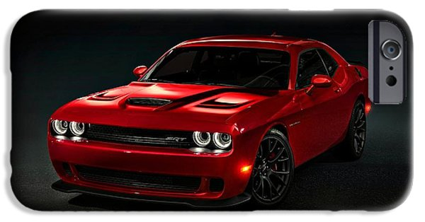Recently Sold -  - David iPhone Cases - Dodge Challenger S R T Hellcat iPhone Case by Movie Poster Prints