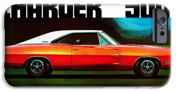 500 iPhone Cases - Dodge Charger 500 iPhone Case by Mark Rogan