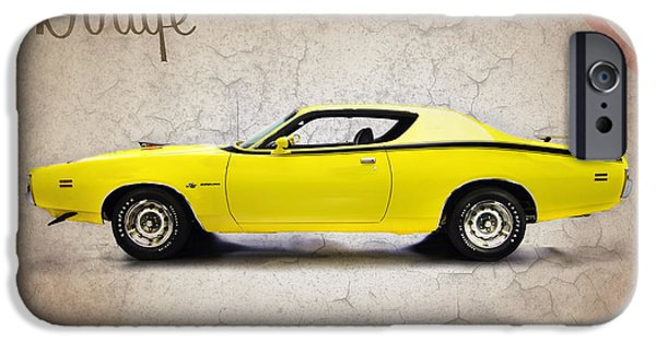 Dodge iPhone Cases - Dodge Charger Super Bee iPhone Case by Mark Rogan