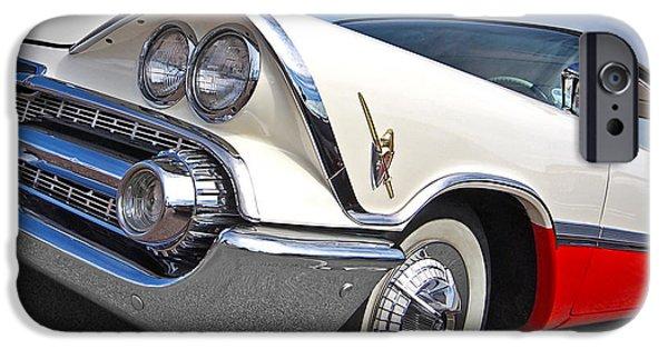 Lancer iPhone Cases - Dodge Custom Royal Lancer 1959 iPhone Case by Gill Billington