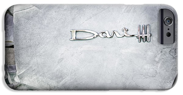 440 iPhone Cases - Dodge Dart 440 Emblem iPhone Case by Jill Reger