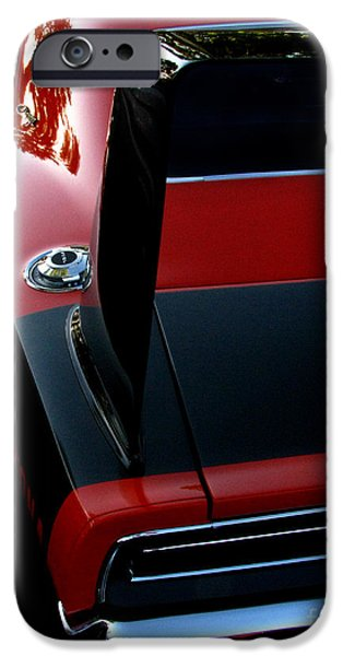 Fat Tire iPhone Cases - Dodge Daytona Fin iPhone Case by Peter Piatt