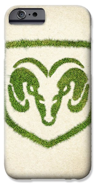 Fanatic iPhone Cases - Dodge Grass Logo iPhone Case by Aged Pixel
