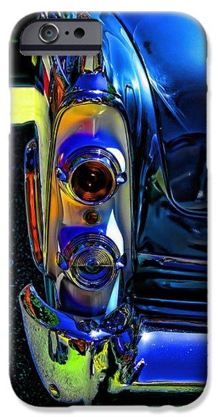Dodge iPhone Cases - Dodge Royal Lancer Blue Pop Art iPhone Case by Lesa Fine