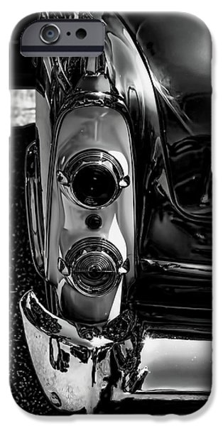 Dodge iPhone Cases - Dodge Royal Lancer Tail Light Art Charcoal iPhone Case by Lesa Fine