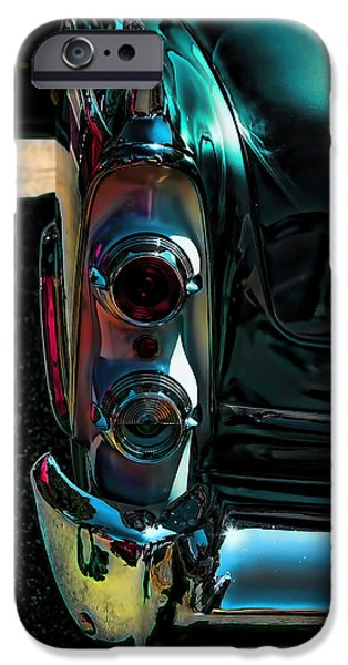 Dodge iPhone Cases - Dodge Royal Lancer Taillights Green iPhone Case by Lesa Fine