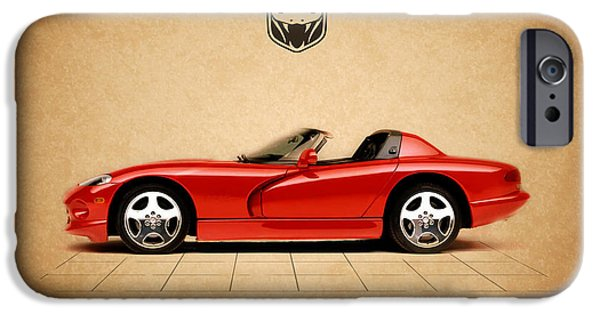 Dodge iPhone Cases - Dodge Viper RT iPhone Case by Mark Rogan