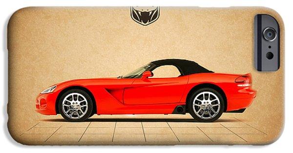 Dodge iPhone Cases - Dodge Viper SRT10 iPhone Case by Mark Rogan