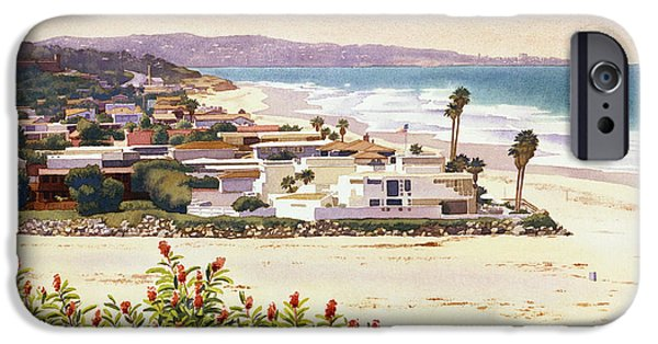 Plants iPhone Cases - Dog Beach Del Mar iPhone Case by Mary Helmreich