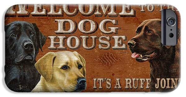Retriever iPhone Cases - Dog House iPhone Case by JQ Licensing