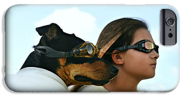 Laura Fasulo iPhone Cases - Dog Is My Co-pilot iPhone Case by Laura  Fasulo