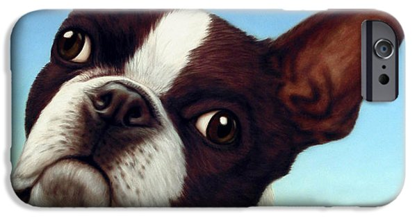 Terrier iPhone Cases - Dog-Nature 4 iPhone Case by James W Johnson