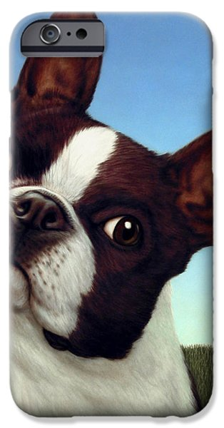 Dog-Nature 4 iPhone Case by James W Johnson