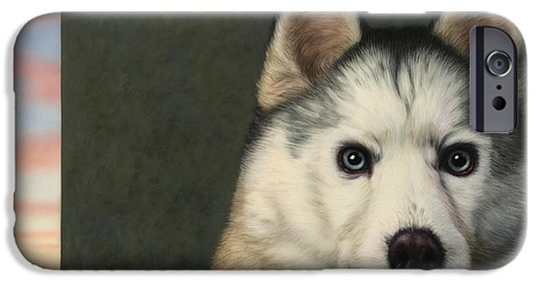 Haunted iPhone Cases - Dog-Nature 9 iPhone Case by James W Johnson