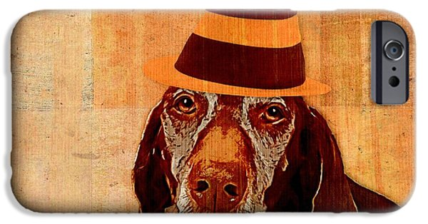 Dog iPhone Cases - Dog Personalities 11 Cat in the Hat iPhone Case by Variance Collections