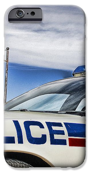 Dog River Police Car iPhone Case by Nicholas Kokil